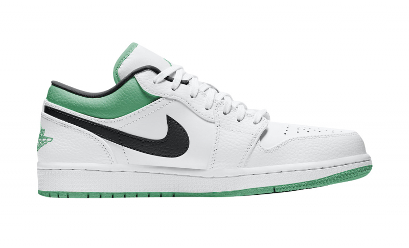 Air-Jordan-1-Low-White-Lucky-Green-Side-View-Right