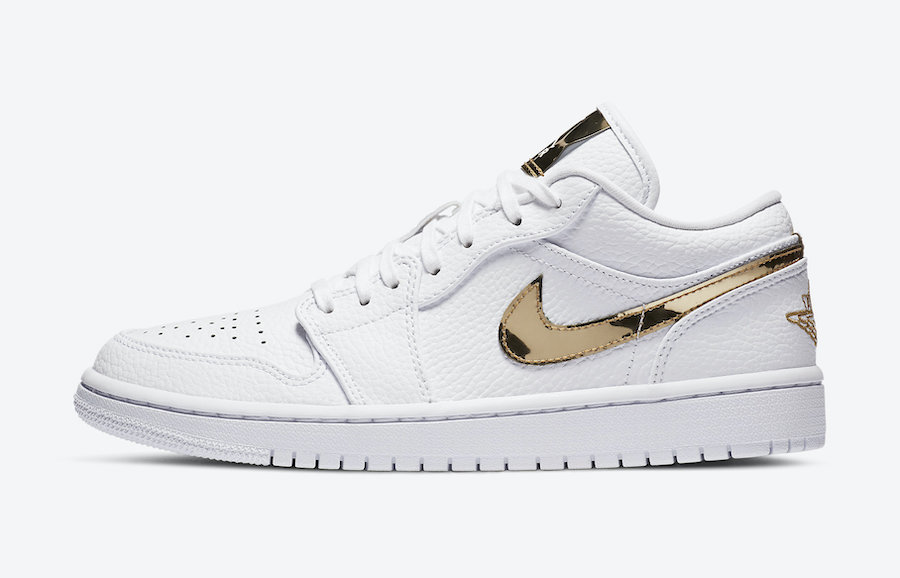 Air-Jordan-1-Low-White-Metallic-Gold-Side-View-Left
