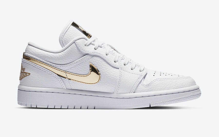 Air-Jordan-1-Low-White-Metallic-Gold-Side-View-Right