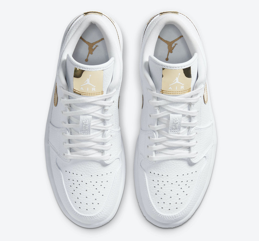 Air-Jordan-1-Low-White-Metallic-Gold-Hover-View