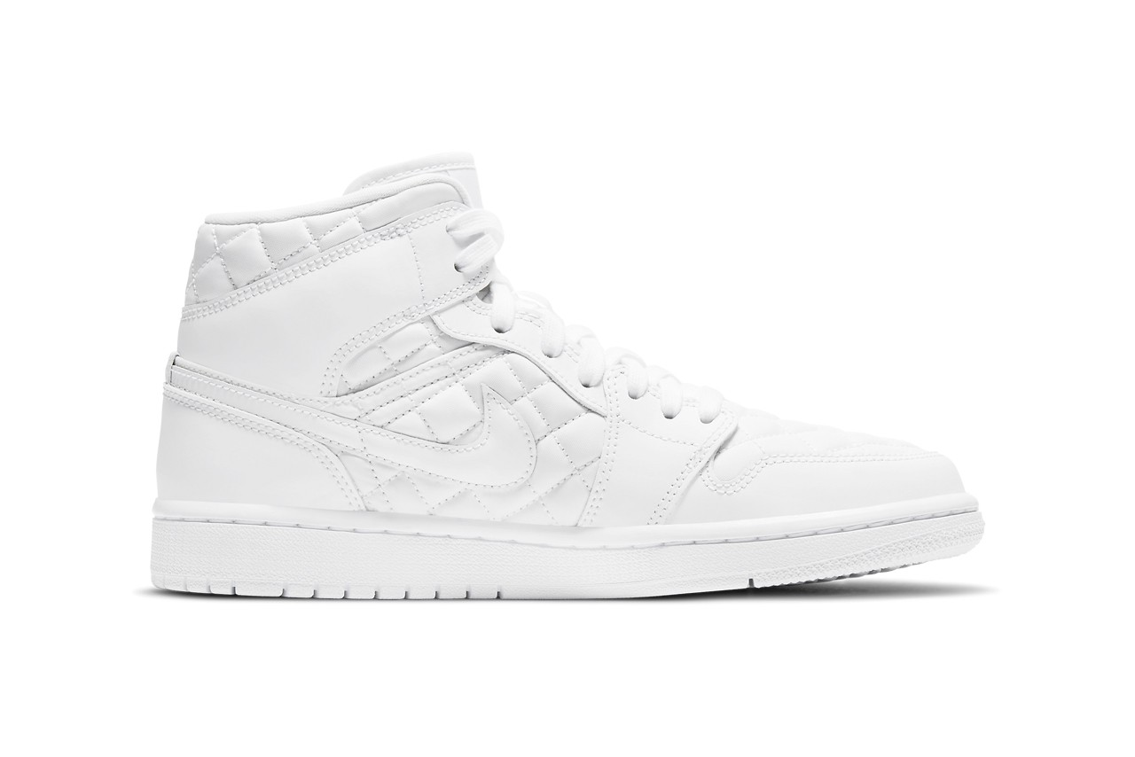 Air-Jordan-1-Mid-Quilted-White-Side-View