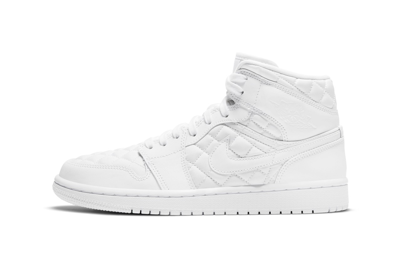 Air-Jordan-1-Mid-Quilted-White-Left-Side-View