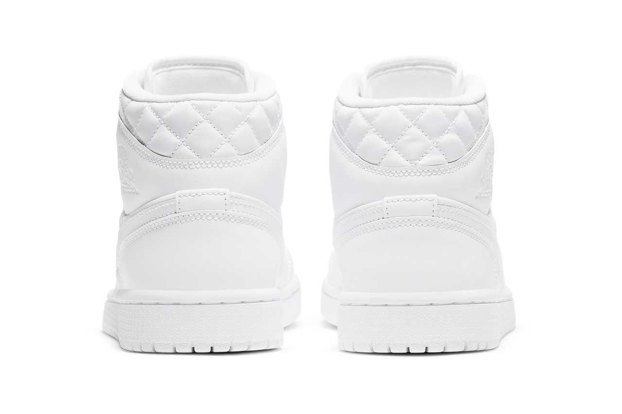 Air-Jordan-1-Mid-Quilted-White-Rear-View