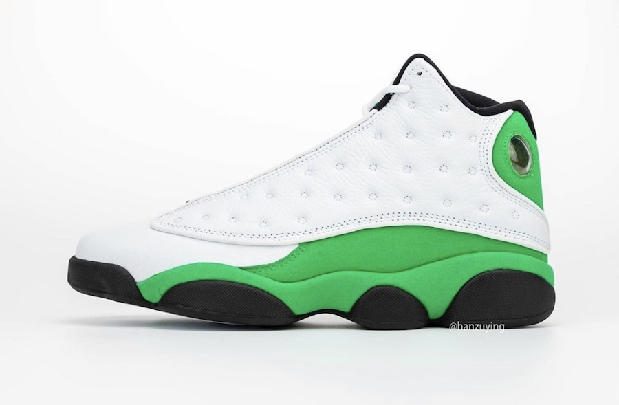 Air-Jordan-13-Lucky-Green-Side-View
