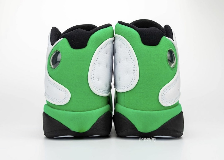 Air-Jordan-13-Lucky-Green-Rear-View