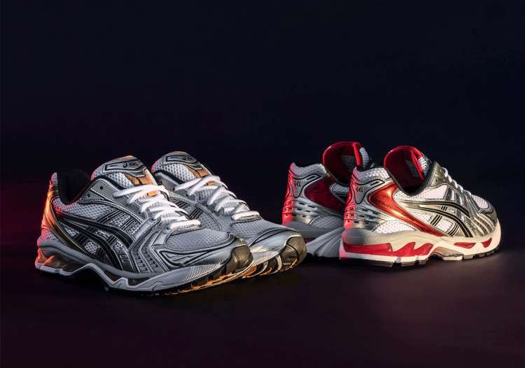 Asics-UB1-S Gel-Kayano-12-Pure-Gold-Classic-Red-Full-View