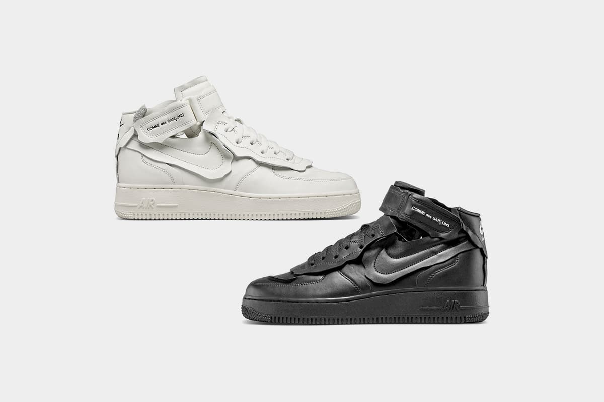 COMME des GARÇONS' Nike Air Force 1 Mid Release Date and Resale ...