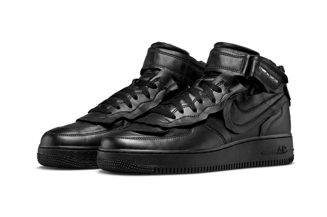 Comme-Des-Garcons-Nike-Air-Force-1-Mid-Black-Full-Look