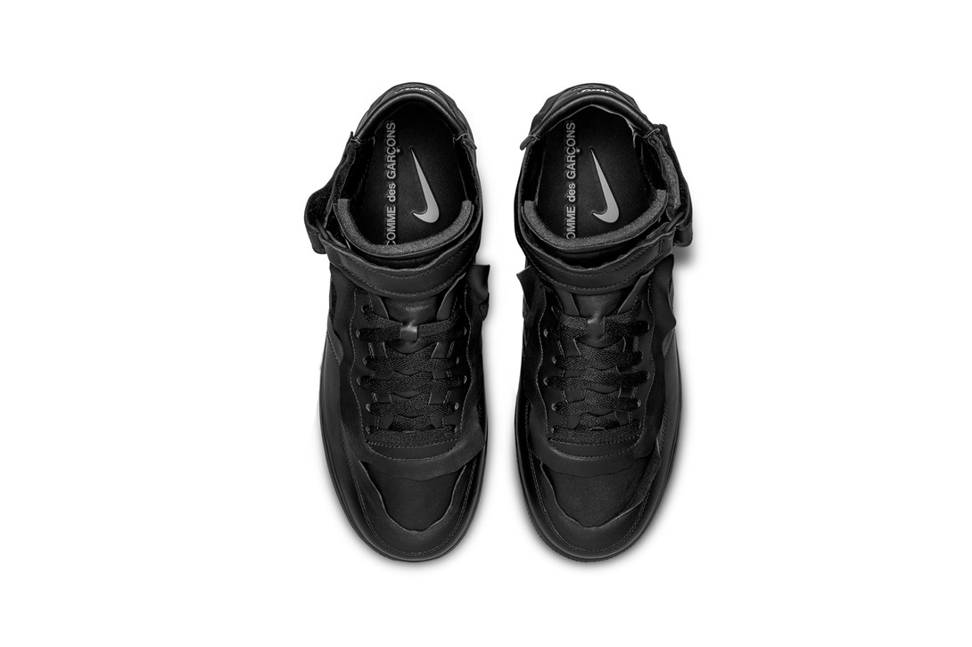 Comme-Des-Garcons-Nike-Air-Force-1-Mid-Black-Hover-View
