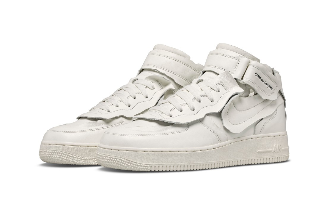 Comme-Des-Garcons-Nike-Air-Force-1-Mid-White-Full-Look