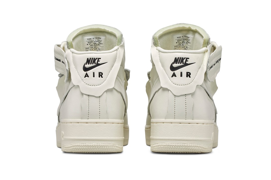 Comme-Des-Garcons-Nike-Air-Force-1-Mid-White-Rear-View