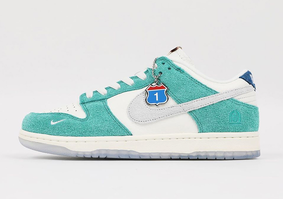 Kasina-x-Nike-Dunk-Low-Neptune-Green-Side-View-Left