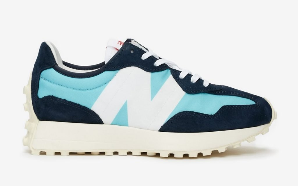 New Balance 327 Wax Blue Lateral View