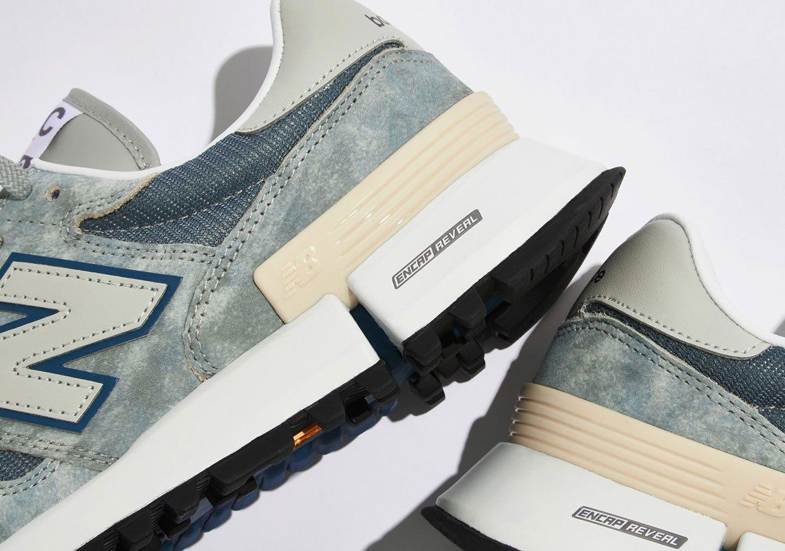 New Balance Tokyo Design Studio Marbled Blue Lateral View