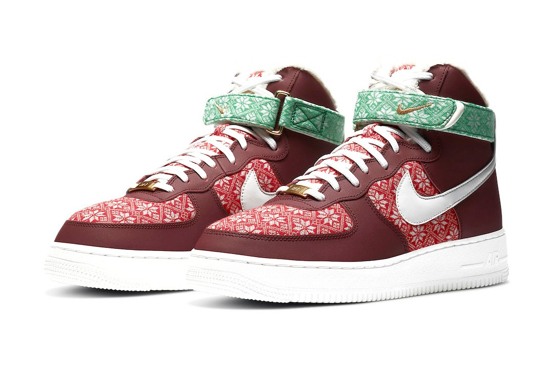Nike-Air-Force-1-High-Christmas-Sweater-Full-View