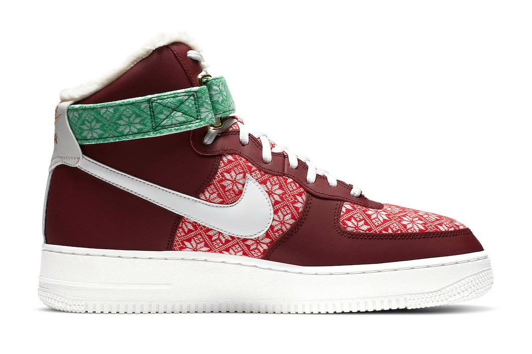 Nike-Air-Force-1-High-Christmas-Sweater-Side-View