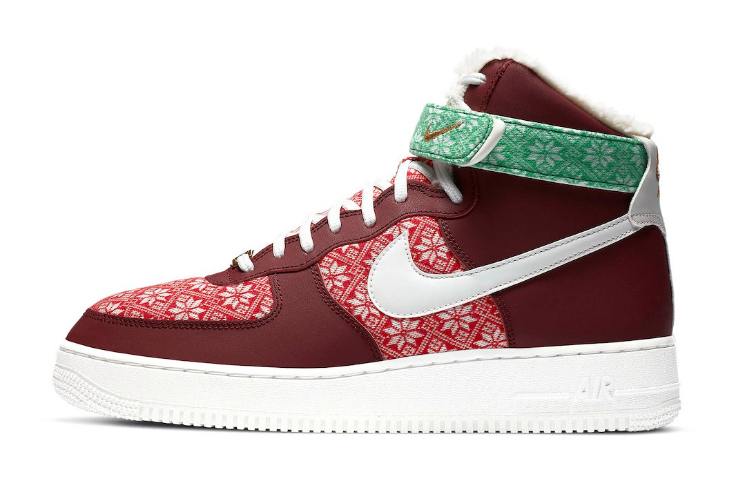 Nike-Air-Force-1-High-Christmas-Sweater-Side-View-2