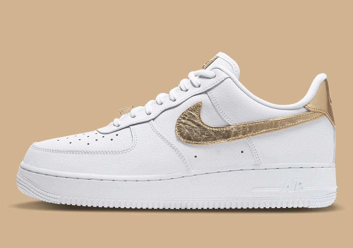 Nike-Air-Force-1-Low-Metallic-Gold-Side-View