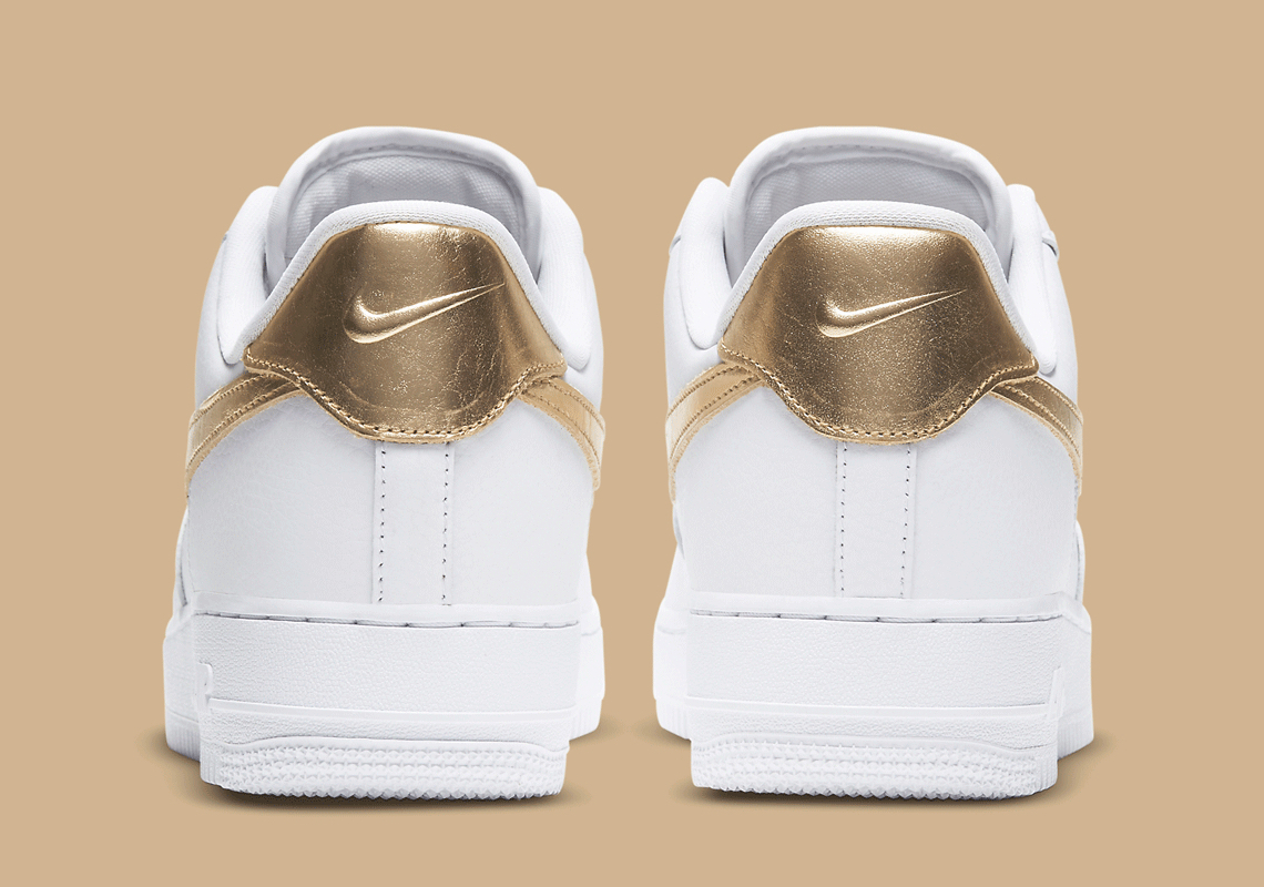 Nike-Air-Force-1-Low-Metallic-Gold-Rear-View