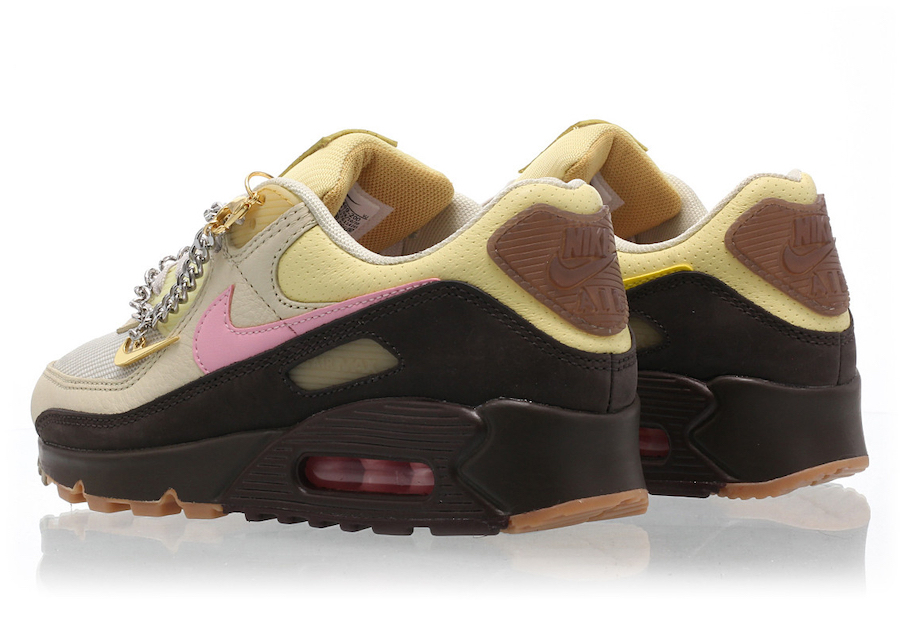 Nike Air Max 90 Cuban Link Rear View