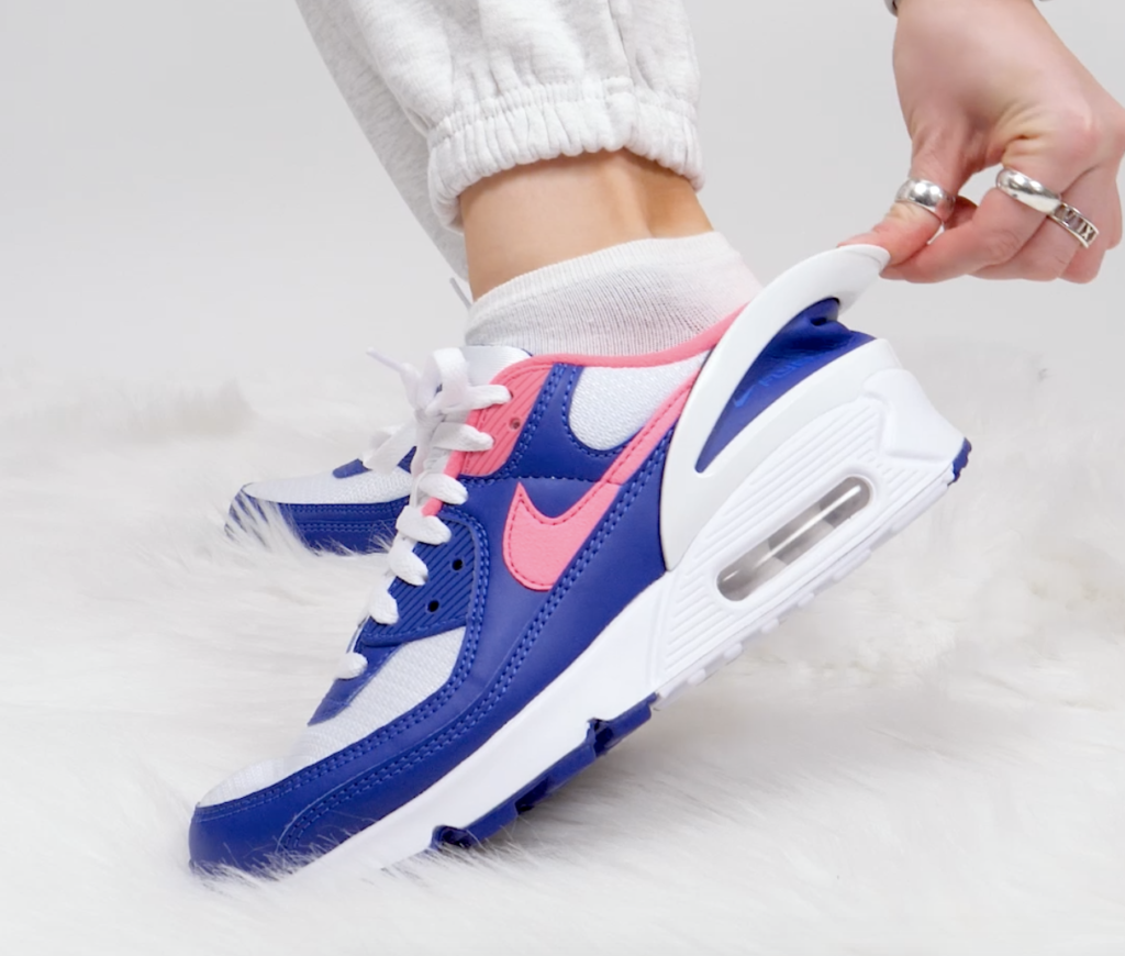 air max 90 on feet blue