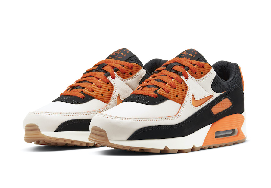 Nike air max 90 safety orange front view