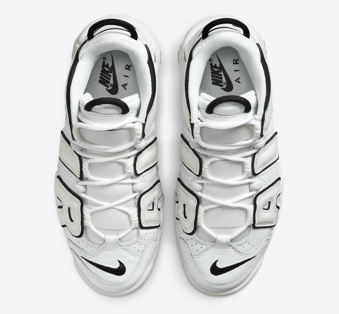 Nike Air More Uptempo White Black Hover View