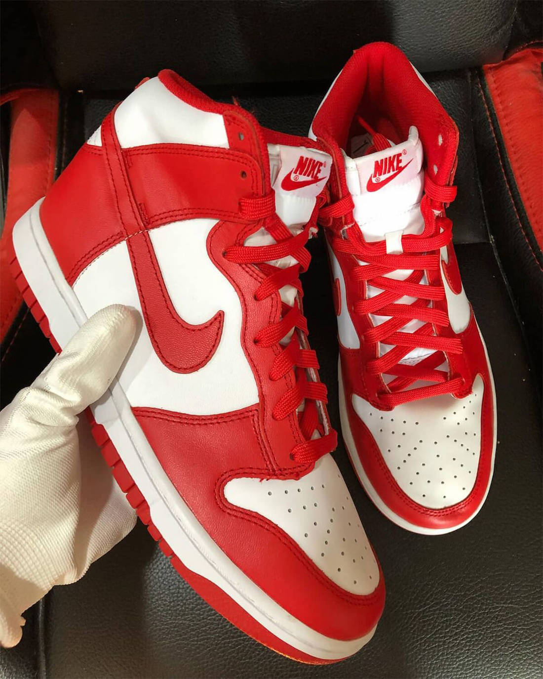 Nike Dunk High University Red Side View