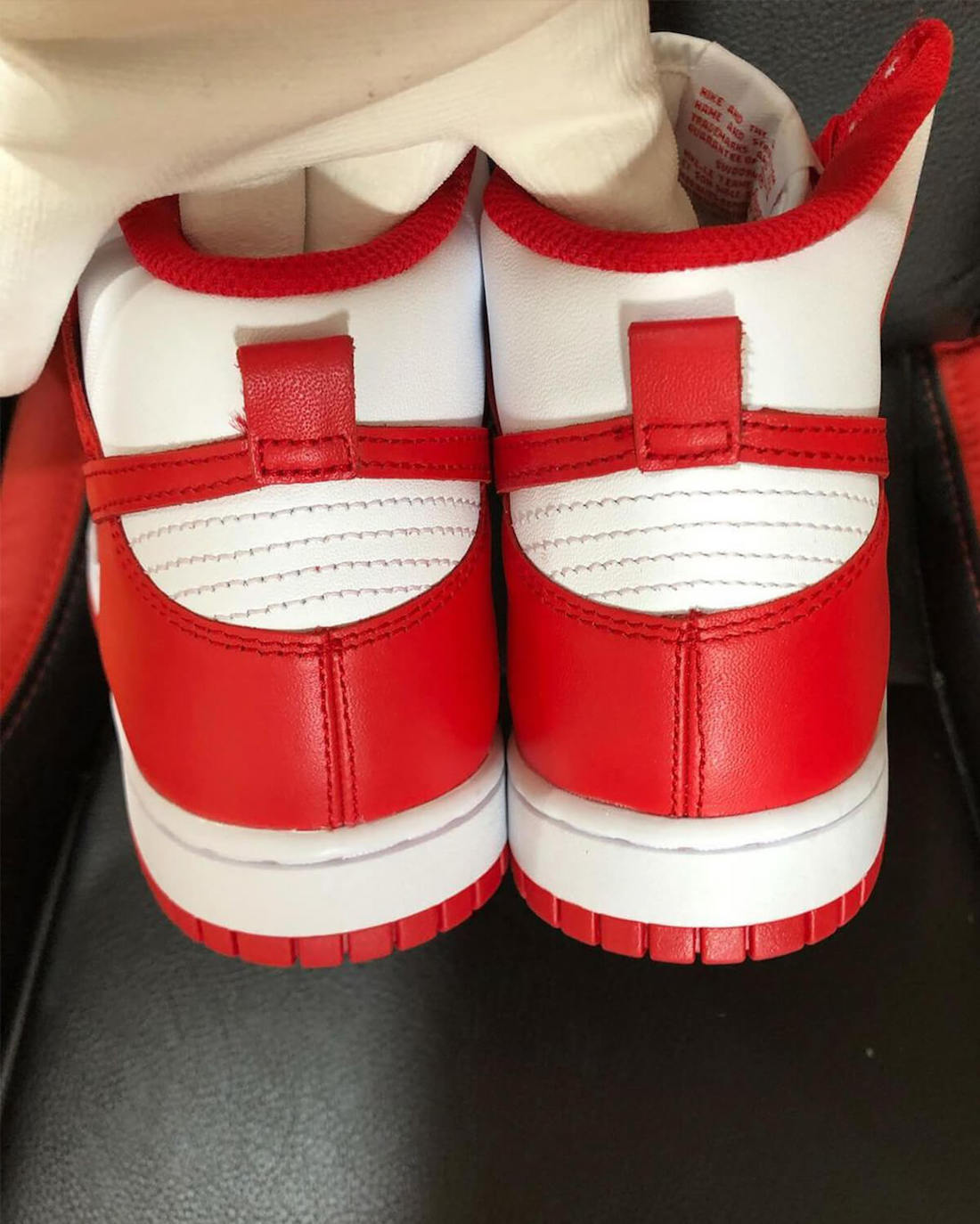Nike Dunk High University Red Rear View
