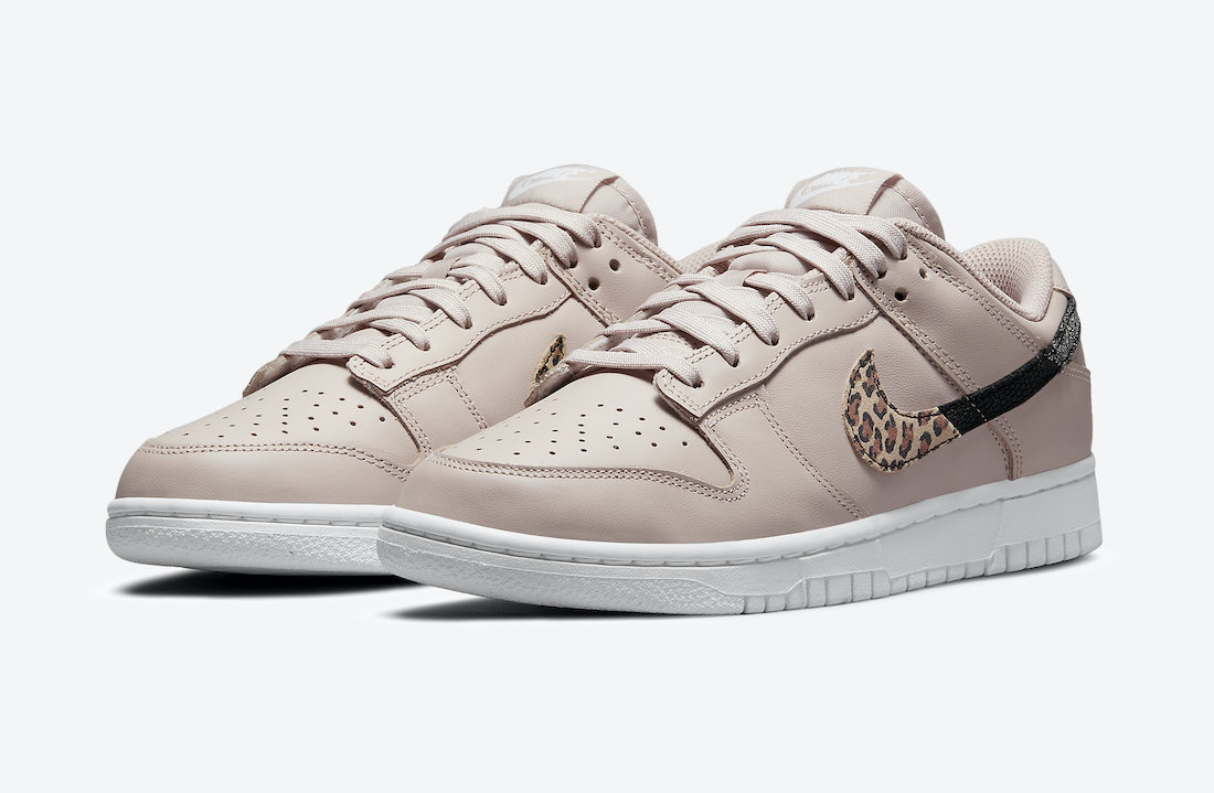 Nike Dunk Low Animal Pack Dusty Pink Quarter View
