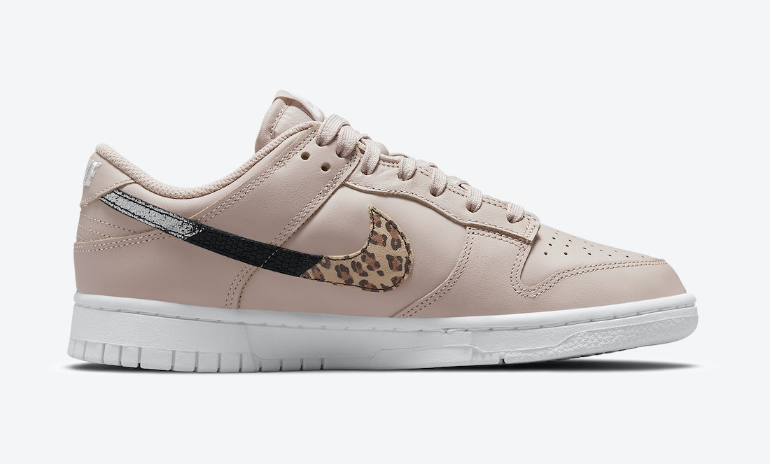 Nike Dunk Low Animal Pack Dusty Pink Side View