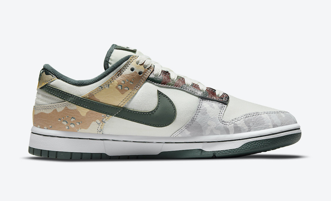 Nike Dunk Low SE Multi Camo Lateral View