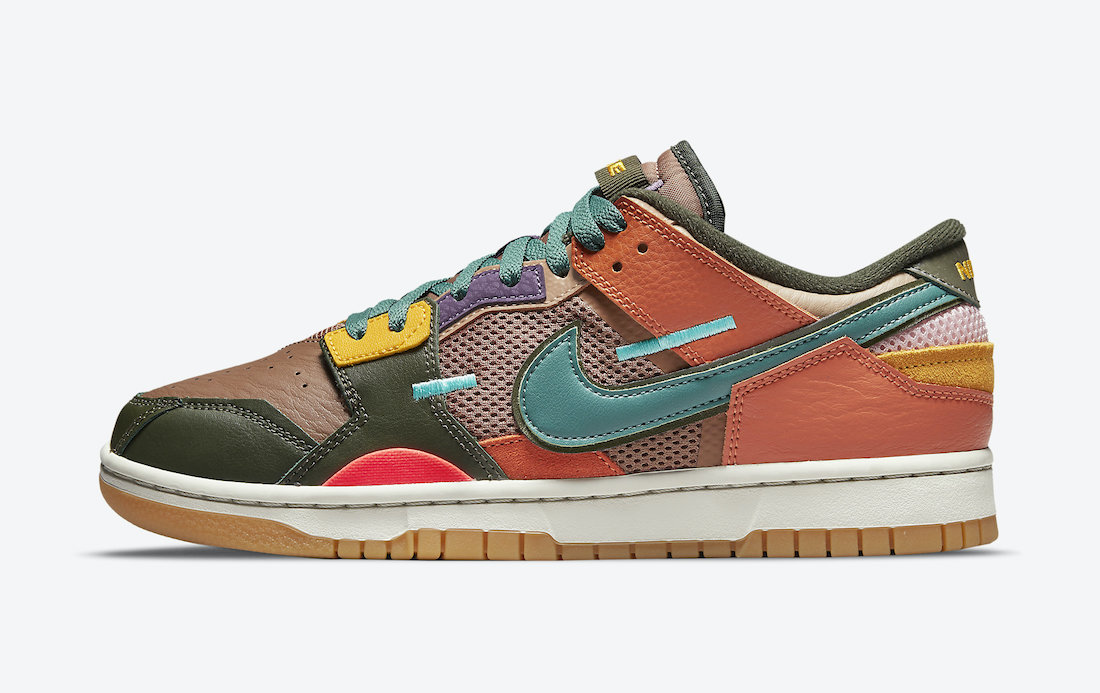 Nike Dunk Low Scrap Archeo Brown Lateral Side