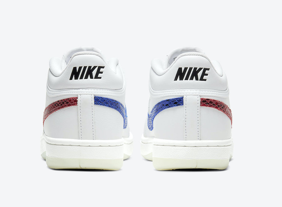 Nike Sky Force 3/4 Red Blue Rear View