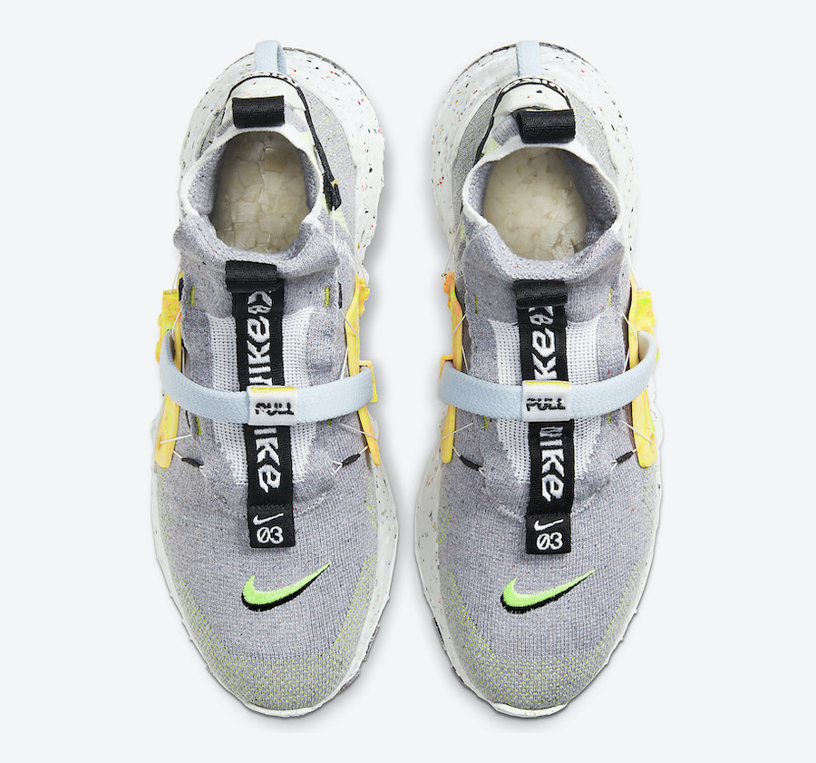 Nike-Space-Hippie-Grey-Volt-Hover-View