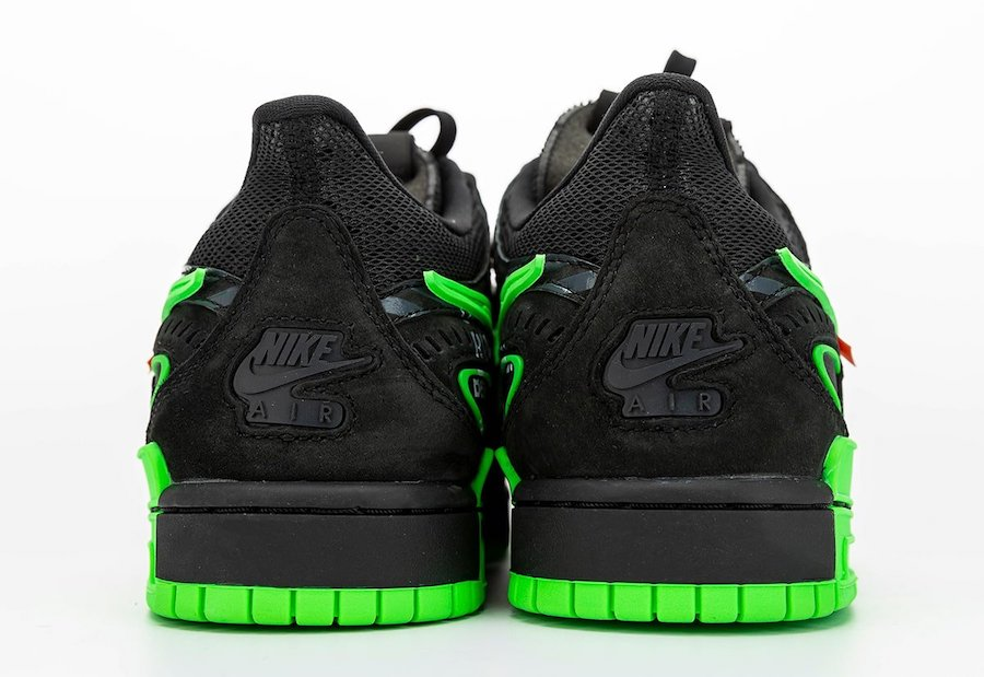 Nike-Off-White-Rubber-Dunk-Strike-Green-Rear-View