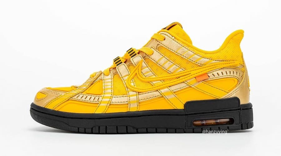 Nike-Off-White-Rubber-Dunk-University-Gold-Side-View