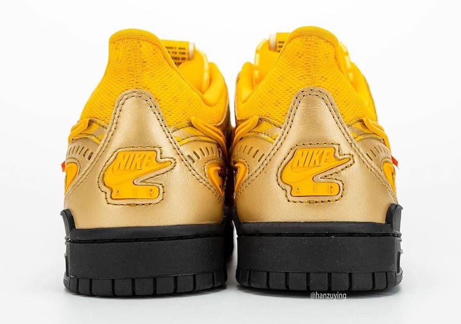 Nike-Off-White-Rubber-Dunk-University-Gold-Rear-View