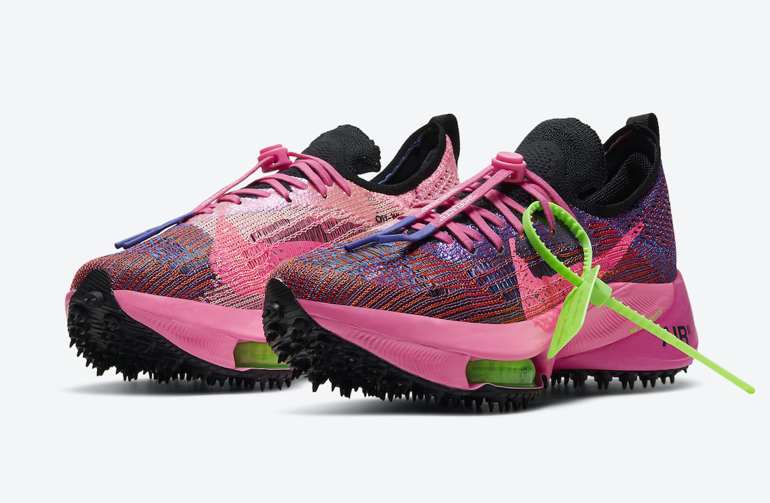 Off-White x Nike Air Zoom Pink Glow Tempo Quarter View