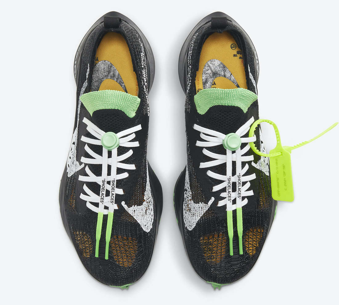 Off White x Nike Air Zoom Tempo Scream Green Hover View