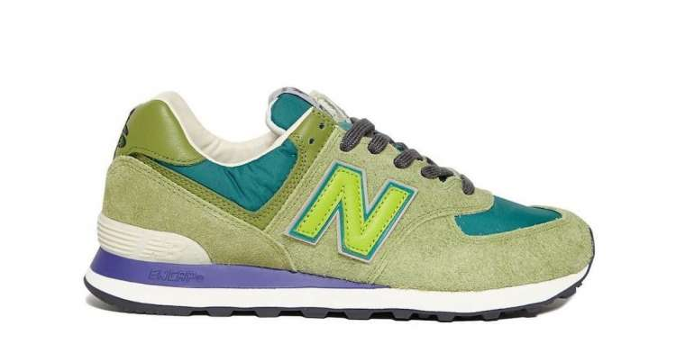 Stray-Rats-New-Balance-574-Green-Side-View