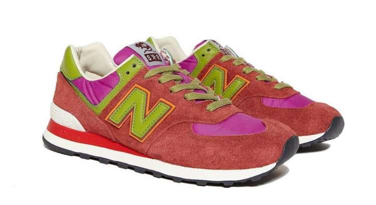 Stray-Rats-New-Balance-574-Red-Full-View