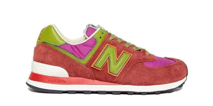 Stray-Rats-New-Balance-574-Red-Side-View