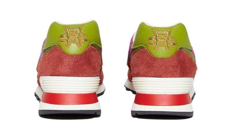 Stray-Rats-New-Balance-574-Red-Rear-View