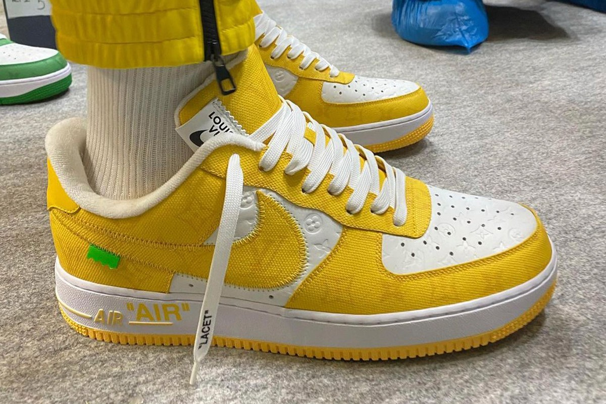 Louis Vuitton Nike Air Force 1 Low Canary Yellow