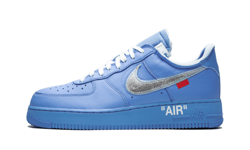 Off White Air Force 1 Low University Blue Side View
