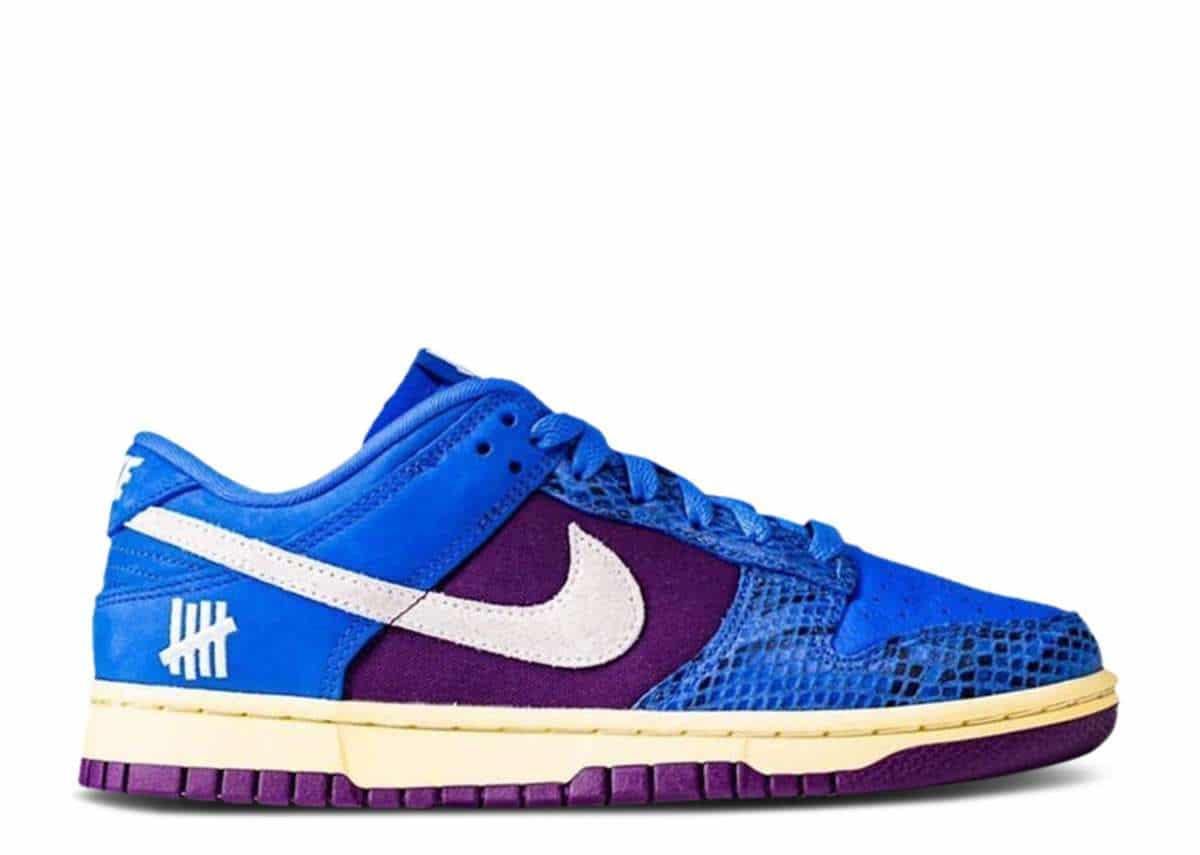 undefeated-nike-dunk-low-blue-snakeskin-Side-View