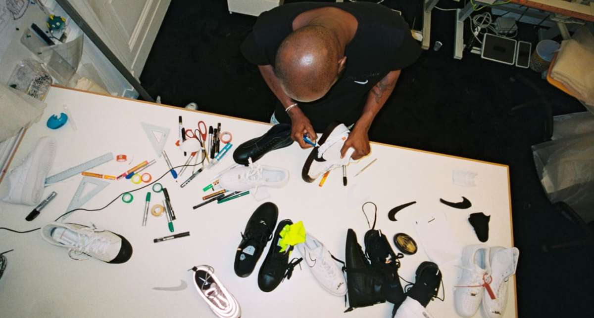 Virgil Abloh Working On His Iconic Sneaker Collection With Nike
